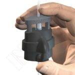 GANCHO COLGADOR MICROGRIP SEGURIDAD, 2 mm -20 Kg-